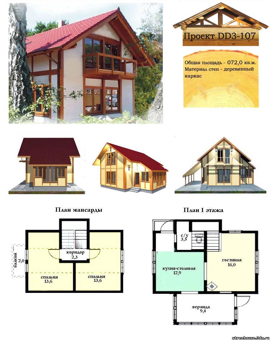 растет, вот проект домов до 100 кв рисунки зоне бикини